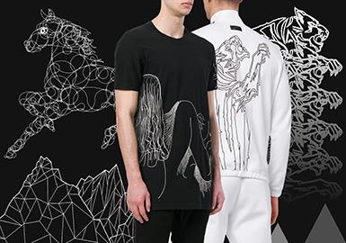 Lines -- 19/20 Pattern Trend for Menswear