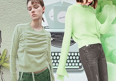 Mint Tone -- 2020 S/S Color Trend for Women's Knitwear