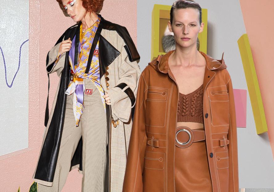Technique Detail -- 2019 S/S Catwalk for Women's Leather Coats