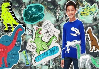 Dinosaurs -- 2020 S/S Technique Trend for Kidswear's Patterns