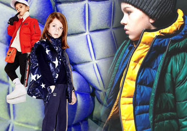 Vibrant & Cool -- 19/20 A/W Material Trend for Kids' Puffa