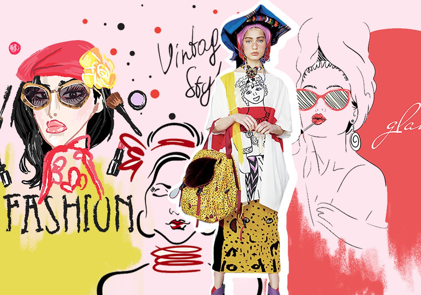Illustration Trends 2020.Portrait Illustration 2020 S S Pattern Trend For Womenswear