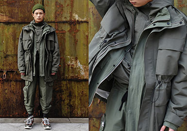 Padded Work Coat -- 19/20 A/W Men's Clothing Collocation