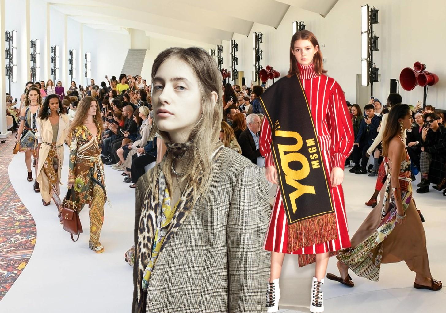 Creativity -- Pre-Fall 2019 Pattern Trend on Women's Catwalk