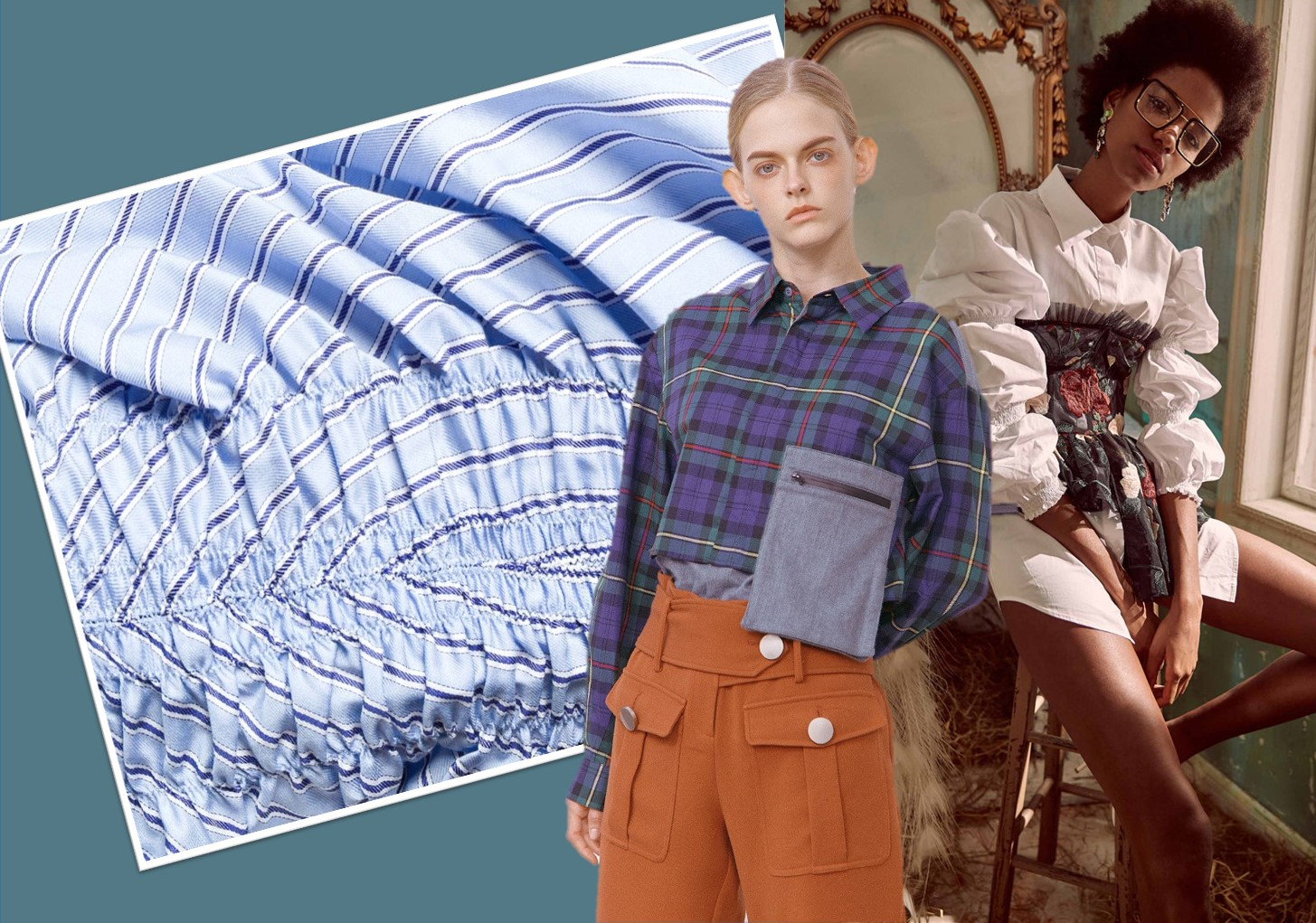 Retro Stripe & Check -- 2020 S/S Women's Shirting Trend