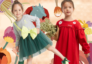 Sweet Dress -- 18/19 A/W Item of Kidswear Designer Brand