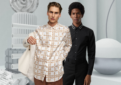 Business Casual Shirt -- 2020 S/S Silhouette Trend for Menswear