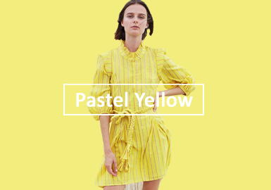 Pastel Yellow -- 2020 S/S Color Evolution of Womenswear