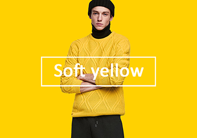 Soft Yellow -- 2020 S/S Color Trend for Men's Knitwear