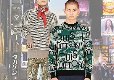 New Street Chic -- 18/19 A/W Pattern Trend for Men's Knitwear in Japanese Market