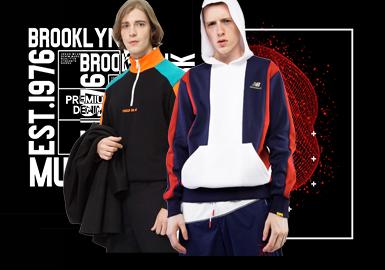 Stylish & Retro Sweatshirt -- 2020 S/S Silhouette Trend for Menswear