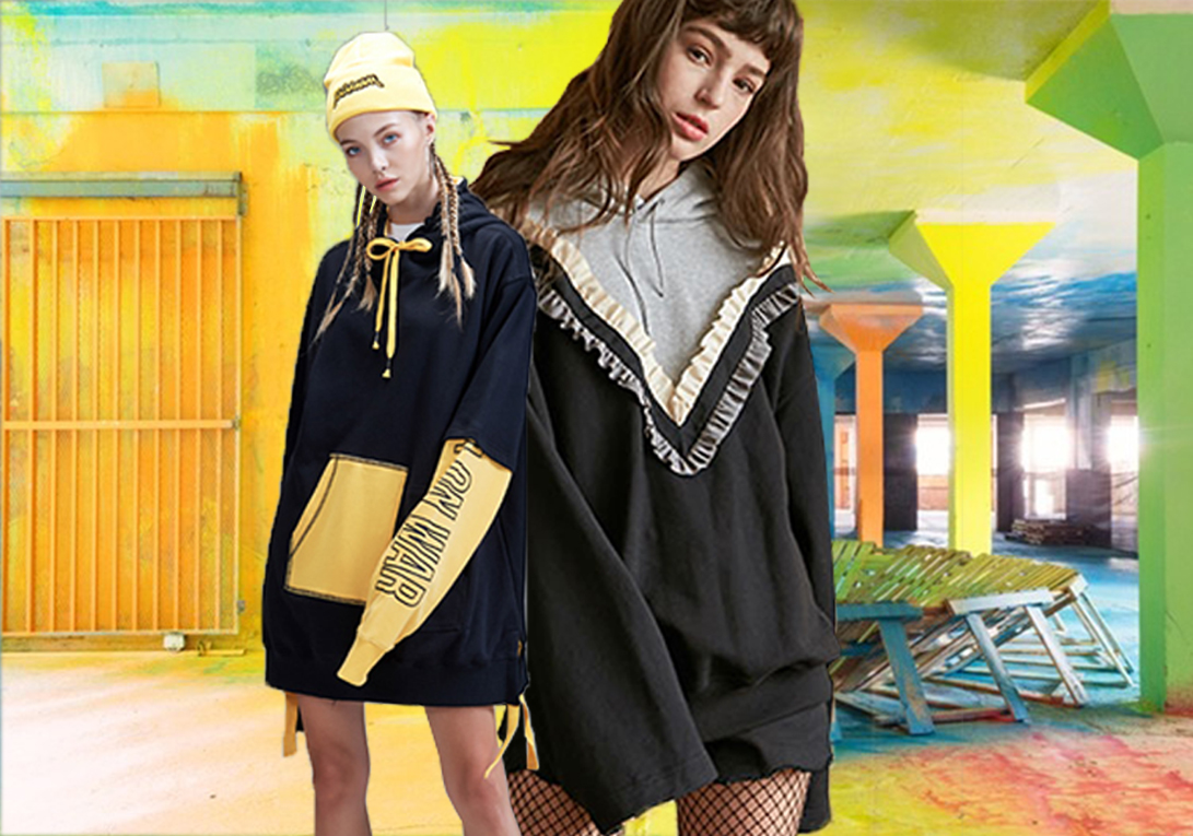 Millennial Street Style -- 18/19 A/W Women's Sweatshirt in Market