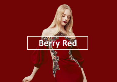 Berry Red -- 2020 S/S Color Evolution of Women's Formal Dress