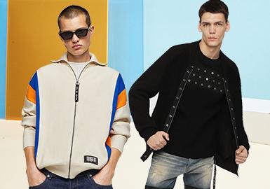 Casual Jacket -- Pre-Fall 2020 Silhouette Trend for Men's Knitwear