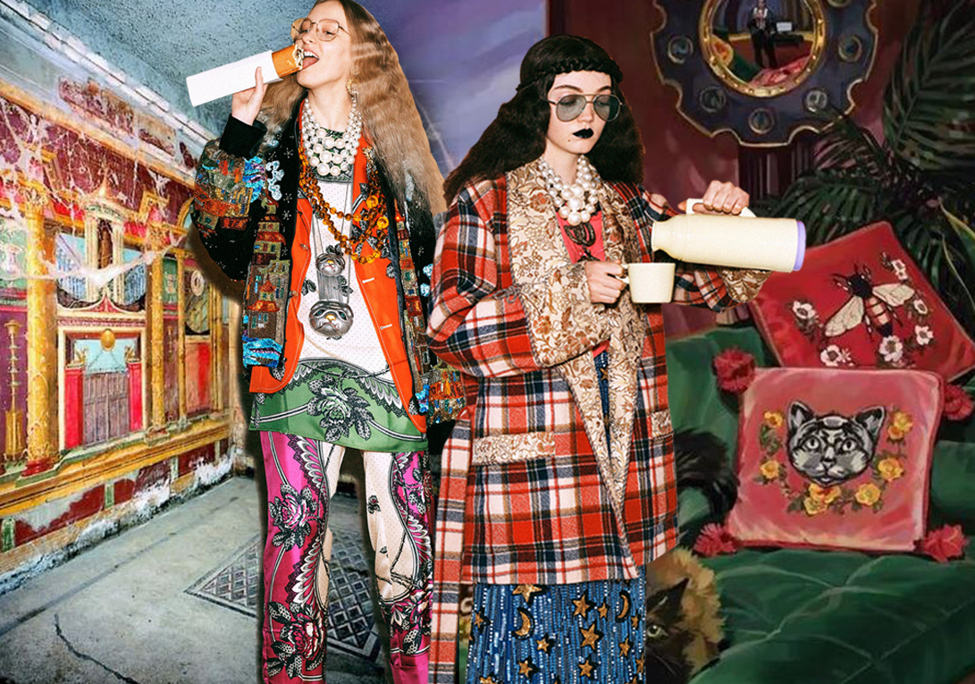 Retro Gucci -- Pre-Fall 2019 Womenswear on Catwalk