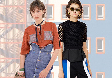 Knitted Tee -- Pre-Fall 2020 Silhouette Trend for Women's Knitwear