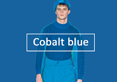 Cobalt Blue -- Pre-Fall 2020 Color Evolution for Men's Knitwear