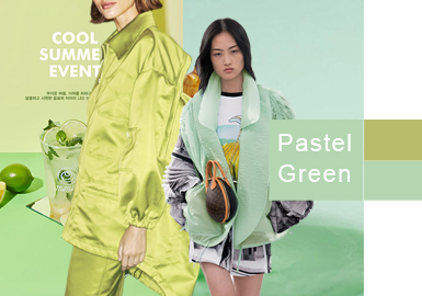 Pastel Green -- 2020 S/S Color Trend for Women's Outerwear