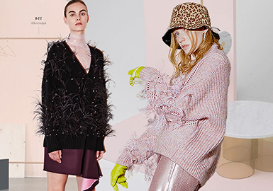 Ethereal Feather -- Pre-Fall 2020 Accessory for Women's Knitwear