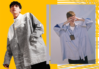 Edgy Shirt -- 2020 S/S Silhouette Trend for Menswear
