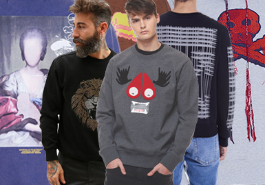 Street Fashion Sweatshirt -- 19/20 A/W Item Analysis in Menswear Trunk Show