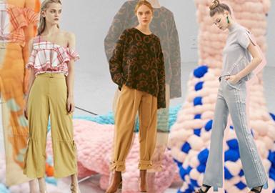 Chic Trousers -- 2019 S/S Womenswear Designer Brand