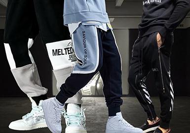 Stylish Cuffed Sweatpants -- 20/21 A/W Silhouette Trend for Menswear