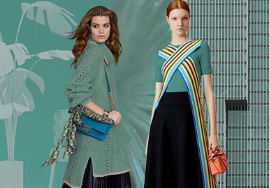 Oil Blue -- 2020 Pre-fall Pattern Trend for Women's Knitwear