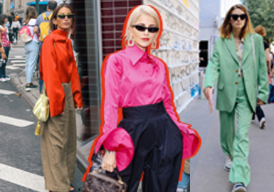 Colorful Sophisticated -- 2019 Resort Street Snap of Womenswear