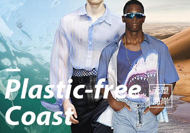 Plastic-free Coast -- 2020 S/S Theme Fabric Trend of Menswear