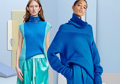 Clothing Collocation in Similar Colors -- 2020 Pre-fall Women's Knitwear Collocation