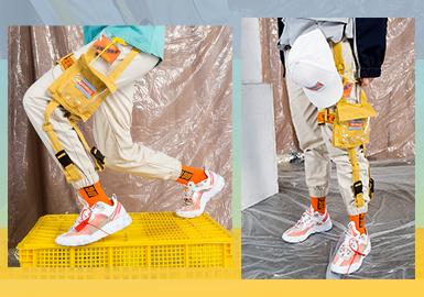 Fashion Cargo Pants -- 2020 S/S Menswear Silhouette Trend