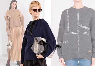 Stella McCartney -- 19/20 A/W Brand Analysis of Women's Knitwear at Trunk Show