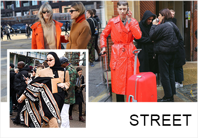 Multiple Styles -- 19/20 A/W Analysis of Street Snap In London Fashion Week
