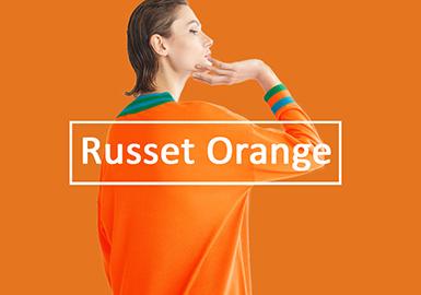 Russet Orange -- 20/21 A/W Pattern Trend for Women's Knitwear