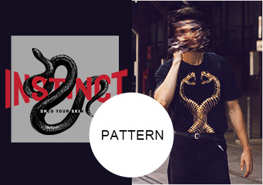 Snake -- 20/21 A/W Pattern Trend for Menswear