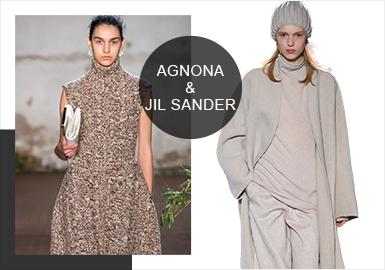 AGNONA & Jil Sander(Minimalism) -- Analysis of 19/20 A/W Catwalk Brands of Women's Knitwear