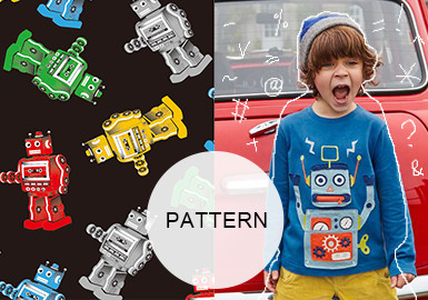 Swaying Robots -- 20/21 A/W Pattern Trend for Kidswear
