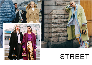Tranquility and Elegance -- A/W 19/20 Analysis of Street Snaps of Womenswear