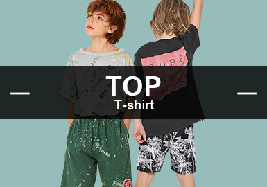 T-Shirt -- Recommended S/S 2019 Popular Items in Boyswear Markets