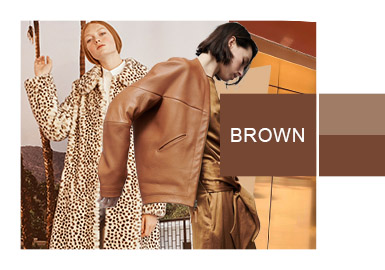 Brown -- A/W 20/21 Color Trend for Women's Leather&Fur