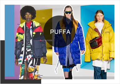 Diversified Puffer Coats -- A/W 19/20 Analysis of Catwalks during Four Fashion Weeks