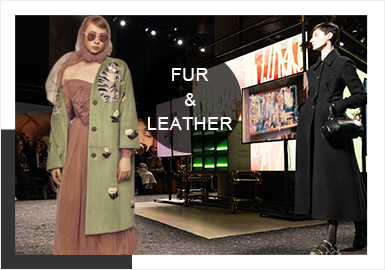 Popular Patterns -- A/W 19/20 Analysis of Catwalks of Women's Leather&Fur