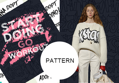 Hand-Drawn Letters -- S/S 2020 Pattern Trend for Womenswear