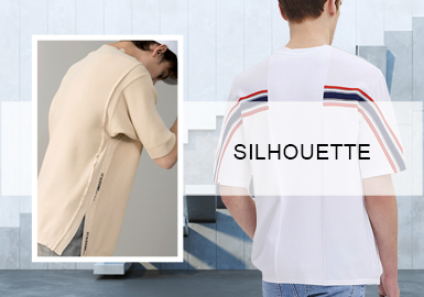 Funky T-Shirts -- S/S 2020 Silhouette Trend for Men's Knitwear