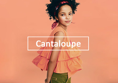 Cantaloupe -- S/S 2020 Color Trend for Girls