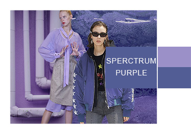Spectrum Purple -- A/W 20/21 Color Evolvement Trend for Womenswear