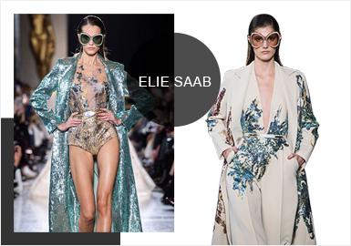 Elie Saab -- S/S 2019 Analysis of Formal Dress Catwalks in Paris Couture Week