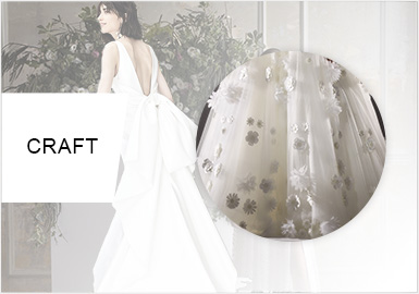 3D Decorations -- S/S 2020 Craft Trend for Wedding Dress