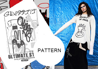 Artistic Hand Scrawls -- A/W 20/21 Pattern Trend for Menswear